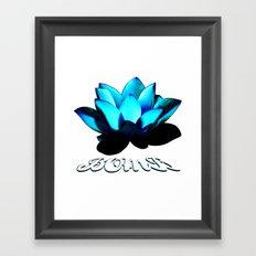 Lotus Flower Bomb Framed Art Print