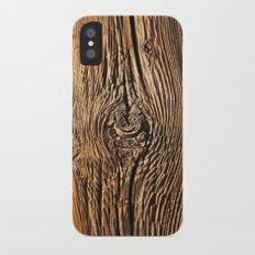 Woodgrain iPhone X Slim Case