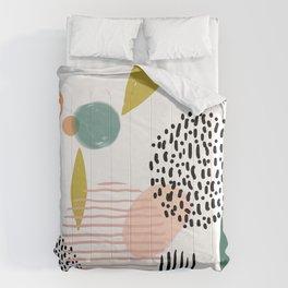 Abstract Modern Art Pattern 3 Comforters