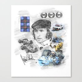 Jackie Stewart, Portrait Canvas Print