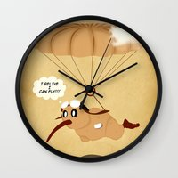kiwi Wall Clocks featuring kiwi by mark ashkenazi