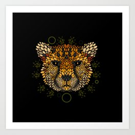 Cheetah Face Art Print