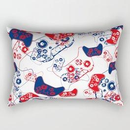 Video Game Red White & Blue 3 Rectangular Pillow