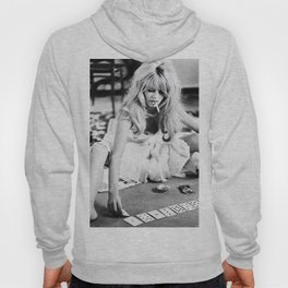 Brigitte Bardot Playing Cards, Black and White Photograph Hoody
