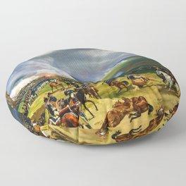 Battle Of Valmy - Digital Remastered Edition Floor Pillow