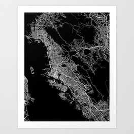 oakland map california Art Print