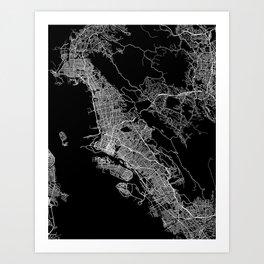 oakland map california Art Print