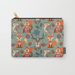 Vintage Xmas Carry-All Pouch