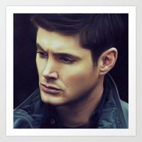 dean winchester Art Prints featuring Dean Winchester by Kaye Pyle
