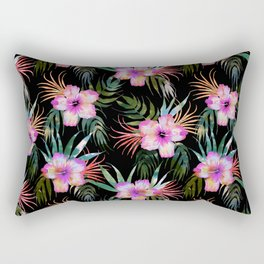 Honolua Tropic Black Rectangular Pillow