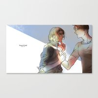 hetalia Canvas Prints featuring hetalia Hauted by Hellacrappy