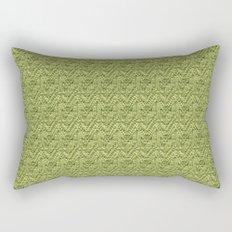 Green Zig-Zag Knit Rectangular Pillow