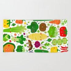 Eat your greens! Beach Towel