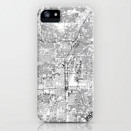 Las Vegas White Map iPhone Case