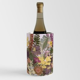 Pressed Flower English Garden Wine Chiller