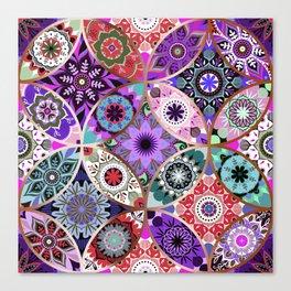Moroccan bazaar | purple Canvas Print