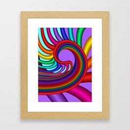 fluid -244violet Framed Art Print