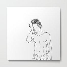 I Draw Guys: Garret Metal Print
