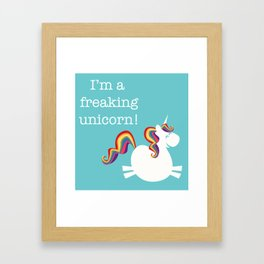 Freaking Unicorn Framed Art Print
