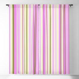 Stripe obsession color mode #9 Blackout Curtain