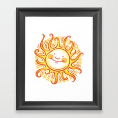 Happy Sun Framed Art Print
