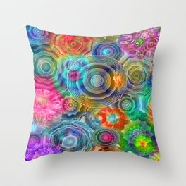 Flowery Meadow 2 Throw Pillow