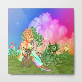 Magical Day With Friends Metal Print