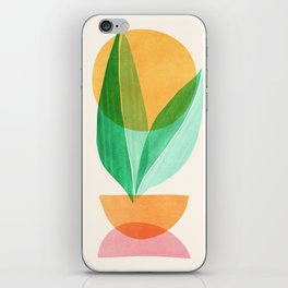 Summer Stack / Abstract Plant Illustration iPhone Skin