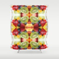 fruits Shower Curtains featuring Fruits by Veronika