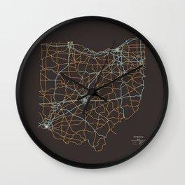 Ohio Highways Wall Clock