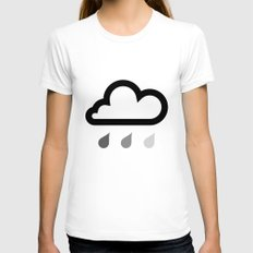Cloud :) Womens Fitted Tee White LARGE
