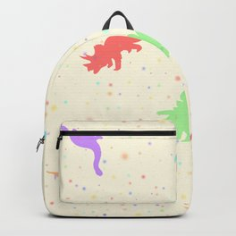Rainbow Dino FunFetti Backpack