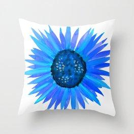 Blue Flower by Linda Sholberg Throw Pillow