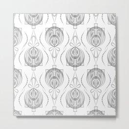 Art Deco 40 . Light Grey background Forever . Metal Print