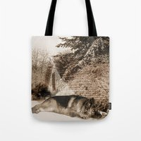 german Tote Bags featuring German Shepherd by Erika Kaisersot