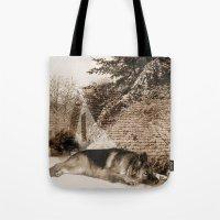 german shepherd Tote Bags featuring German Shepherd by Erika Kaisersot