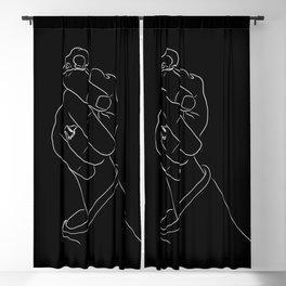 Alas, Poor Sparrow! | White on Black Blackout Curtain
