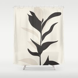 Abstract Minimal Plant Shower Curtain