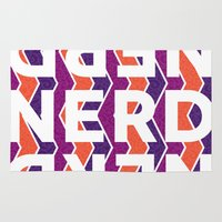 nerd Area & Throw Rugs featuring NERD by Laura Stiner