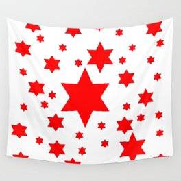 JULY 4TH  RED STARS DECORATIVE DESIGN Wall Tapestry