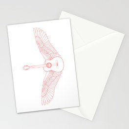 Flying Guitar. Stationery Cards