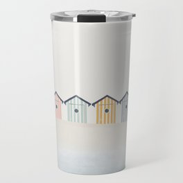 Beach Cabins Travel Mug