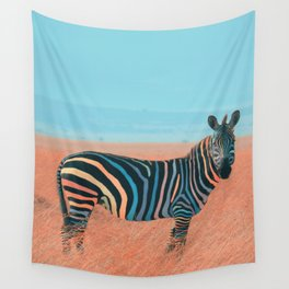 Colorful Zebra Wall Tapestry