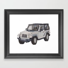 Jeep Wrangler 2012 Framed Art Print