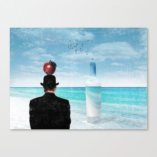 René at the beach Canvas Print