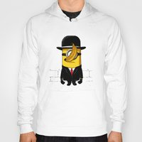 magritte Hoodies featuring Magritte banana by le.duc