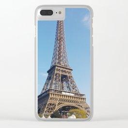 Eiffel tower III Clear iPhone Case