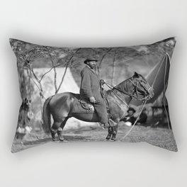 Allan Pinkerton On Horseback - Battle of Antietam - 1862 Rectangular Pillow