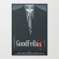 goodfellas Canvas Prints featuring Goodfellas Movie Poster by ZTH Design