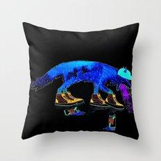 Drunk Fox Throw Pillow